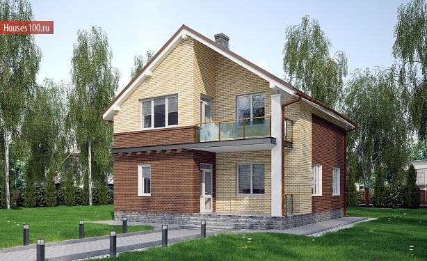 Предлагаем готовые проекты каменных домов из кирпича, газобетона, пенобетона, газосиликата в